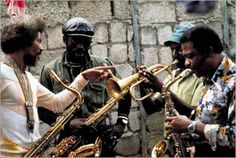 Tommy McCook, Dirty Harry, Bobby Ellis and Herman Marquis during filming for Rockers Dub Music, Reggae Music, Jazz Music, Rasta Man, Reggae Artists, Jamaican Music, Dancehall Reggae, African Artists, Dance Hall