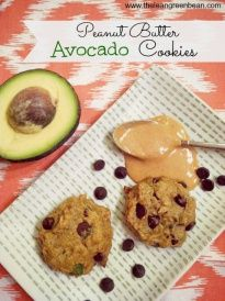 peanut butter avocado cookies 2 Peanut Butter Avocado Cookies I think I want to try these with sunbutter and white chocolate chips