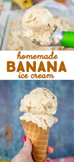 This Homemade Banana Ice Cream Recipe is rich creamy and oh-so delicious! The Ice cream is made with cream sugar eggs a bit of flour and 2 very ripe bananas. So yes it tastes just like banana pudding in ice cream form. Cheesecake Ice Cream, Ice Cream Desserts, Ice Cream Flavors, Köstliche Desserts, Frozen Desserts, Cheesecake Cake, Cheesecake Squares, Cheesecake Recipes, Cream Cake
