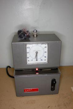Lathem Model 2101 Time Clock w/Extra Ribbon Vintage Retro Industrial Steampunk  #Lathem