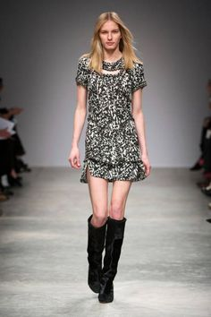 How to wear the Boho Lux Dress: with knee high boots (Isabel Marant Fall 2013)  // September 2013 Golden Tote