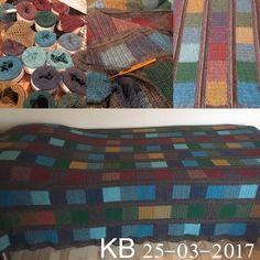 Leftover blanket. Coastyarn. Inspired by http://lisefranck.blogspot.dk/2017/02/crochet-long-colours-and-squares.html