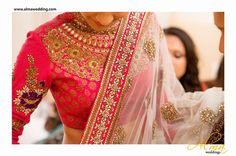 Bright Pink Bridal lehenga and saree | Bright Pink Theme and Decor | Wed Me Good