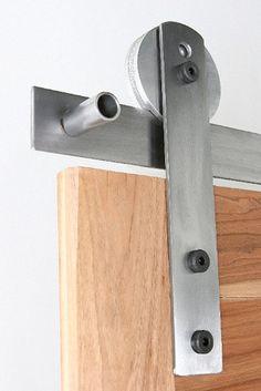Sleek and stylish = ultramodern style barn door hardware. http://rusticahardware.com/ultramodern-barn-door-hardware/