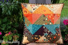 charm pack zig zag pillow