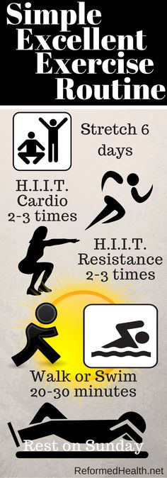 We are created to MOVE! If you are not exercising, this routine is a great way to get started. It is simple, safe, and effective. But to be sure -- check with your own healthcare provider before starting any exercise regime.