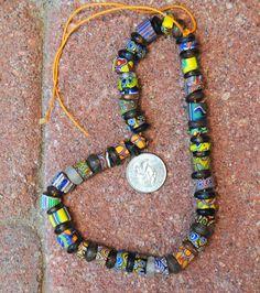 Antique Millefiori Beads by AfroBeadia on Etsy