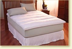 Lumbar Feather Bed : Pacific Coast Feather Company