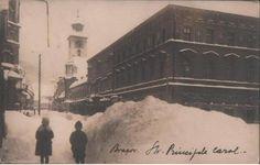 Brasov - str Principele Carol - iarna - interbelica