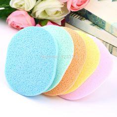 Naturholz Fiber Face Wash Reinigung Sponge Schönheit Make-Up Werkzeuge Zubehör