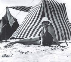 Bibi à Royan - Photographiée par Jacques-Henri Lartigue - 1924