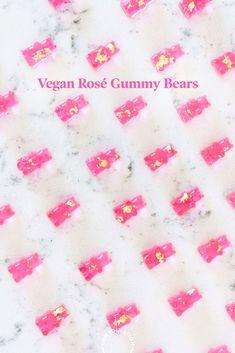 boozy rosé gummy bears for a bridal shower! Champagne Gummy Bears, Blush Wine, Bridal Shower Desserts, Pink Food Coloring, Craft Cocktails, Vegan Treats, Cocktail Recipes, Happy Hour, Nom Nom