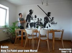 How to paint a mural on your wall - step by step!