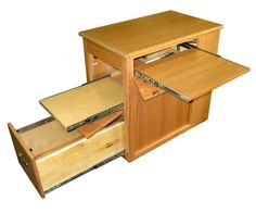 Our Computer Desk makes a great addition to any RV Includes file cabinet and trays for printer/cpu and keyboard or laptop. Rv Homes, Tiny Homes, Desks For Small Spaces, Rv Storage, Rv Living, Office Ideas, Filing Cabinet, Woodworking Projects, Clever