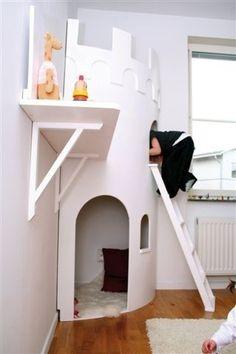 Castle in a room :) diy-home  sånn ska ungen min få sæ ;) om æ får unge da ;) hehe