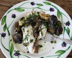 Striped Bass with Salsa Verde and Mediterranean Roasted Vegetables Recipe