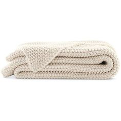 Organic Cotton Knit Blanket ($150) ❤ liked on Polyvore featuring home, bed & bath, bedding, blankets, fillers, accessories, decor, backgrounds, text and phrase