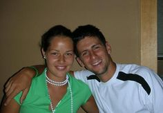 Ana Ivanovic with good friend Novak Djokovic, way back