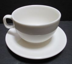 Starbucks White Coffee Tea Cup Saucer At Home Collection 2004 8 Oz Porcelain Starbuckscoffee