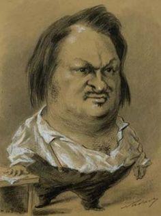 Félix Tournachon, dit Nadar, Caricature d'Honoré de Balzac, Paris, BnF