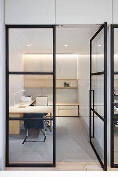 Office Tour: Financial Services Company Offices – New York City – Modern Corporate Office Design Small Office Design, Industrial Office Design, Cool Office Space, Corporate Office Design, Office Designs, Corporate Offices, Industrial Lamps, Corporate Business, Industrial Furniture
