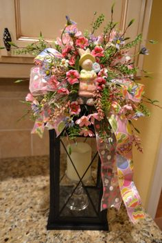 Easter swags | Easter Bunny Lantern Swag by kristenscreations on Etsy