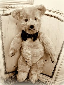 'Charles Henry Esquire' is a dashing and Debonair 1940s Chiltern Hugmee Teddy Bear. A bit Camera Shy see his full colour photos at www.AncestralBears.com