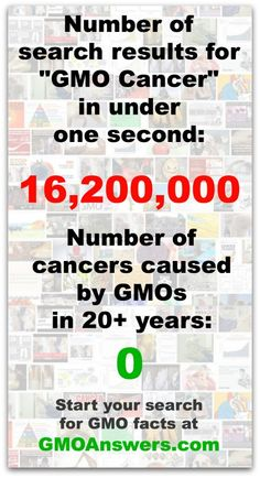 Get the facts on GMOs and cancer. bit.ly/1j7QLG0