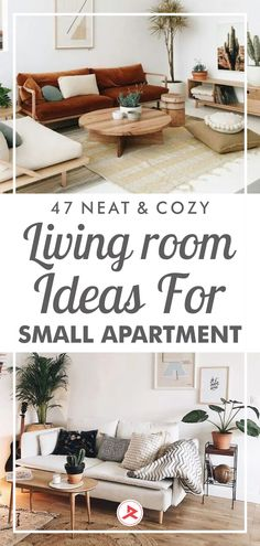In the small apartment living room, you might be afraid of overwhelming things with too-large furniture, but if you can arrange well the furniture you will get a space that seats a ton of people and feels super welcoming and cozy. #apartmentdecor #smallapartment #livingroomapartmentdecor #livingroomdecor