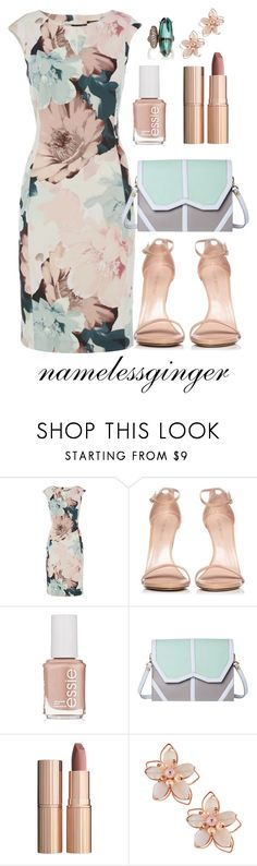 """untitled #576"" by namelessginger ❤ liked on Polyvore featuring Stuart Weitzman, Essie, Emeline Coates, Charlotte Tilbury, NAKAMOL and Sidney Garber"