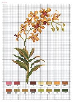 Over 16 graphs of flowers in cross stitch Tiny Cross Stitch, Cross Stitch Tree, Cross Stitch Heart, Cross Stitch Cards, Cross Stitch Borders, Cross Stitch Flowers, Cross Stitch Designs, Cross Stitching, Cross Stitch Embroidery