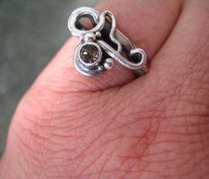 Hey, I found this really awesome Etsy listing at https://www.etsy.com/listing/197710869/smokey-quartz-ring-hand-forged-smokey