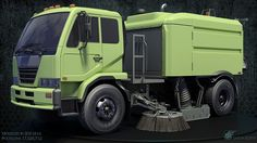 Highpoly Street Sweeper
