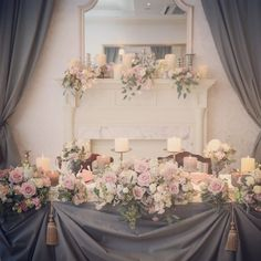 いいね!107件、コメント1件 ― 麻布迎賓館さん(@azabu_geihinkan)のInstagramアカウント: 「メインテーブル✨ pink×grayで上質なコーディネートに。 #麻布迎賓館 #麻布迎賓館wedding #麻布迎賓館15周年 #wedding #weddingphoto…」 Backdrop Decorations, Wedding Table Decorations, Flower Decorations, Blue Grey Weddings, Pink Grey Wedding, Kings Table, Wedding Notes, Sweetheart Table, Table Flowers