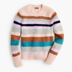 Shop the latest collection of J.Crew Point Sur Stripe Alpaca & Merino Wool Blend Sweater - Women's fashion Sweater from the most popular stores - all in one place. Similar products are available.