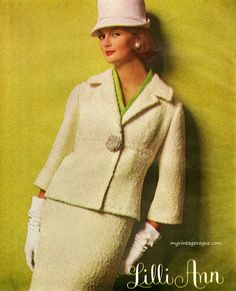 Just acquired a similar suit in yellow wool. Lilli Ann 1962