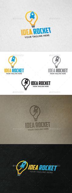 Idea Rocket  - Logo Design Template Vector #logotype Download it here: http://graphicriver.net/item/idea-rocket-logo-template/11091349?s_rank=1315?ref=nexion