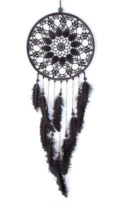 Black Dream Catcher, Crochet Doily Dreamcatcher, large dreamcatcher, feathers, boho dreamcatchers, wall hanging, wall decor, handmade