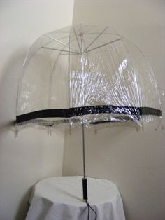 60's Bubble Umbrella - I had one as a kid in the 70s and it had Minnie Mouse on it - loved that it covered me but I could still see where I was going!