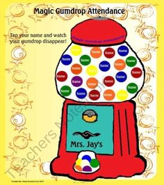 Magic Gumdrop Animated Attendance is a Smart Notebook file that can be used with your Smartboard. This activity has animation your students will lo. Attendance Incentives, Attendance Board, School Attendance, Classroom Setup, Classroom Organization, Classroom Management, Smart Board Activities, Teacher Notebook, Gum Drops