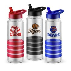 Retail feel...promotional product price - Striped Tritan Water Bottle - 24 oz. | Promos On-Time