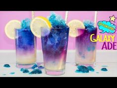(10) Color change! How to Make Lemonade Galaxy Slush - YouTube