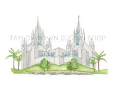 Image result for sketch of san diego temple