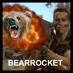 Forget killing with a bazooka, launch an angry bear at your enemies.                            #ScotHibb