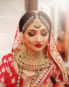 Bridal Makup, Bridal Makeup Images, Bridal Makeup Looks, Bridal Hairstyle Indian Wedding, Indian Wedding Makeup, Indian Wedding Jewelry, Bride Eye Makeup, Smokey Eye Makeup Look, South Indian Bridal Jewellery