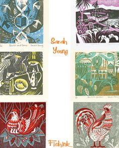 Sarah Young  artist printmaker  hard to choose what to pin they are all wonderful