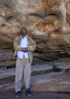 Laas Gaal or Laas Geel is a complex of caves and rock shelters in Somaliland. Famous for their rock art, the caves are located not far from Hargeisa, and contain some of the earliest known cave paintings in Africa. Laas Gaal's rock art is estimated to date back to somewhere between 9,000–8,000 and 3,000 BCE.  Photo by Eric Lafforgue