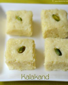 Easy Kalakand | Indian Diwali sweet recipes ! Step by step pictures for easy understanding!                                                                                                                                                                                 More