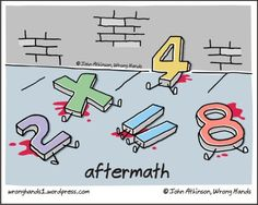 Math Humor | aftermath by Wronghands1 #funny #math