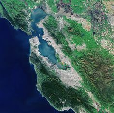 The Landsat-8 satellite captured this image of the San Francisco Bay Area in the US state of California on 5 March 2015. The city of San Francisco is on a peninsula in the centre left section of the image.